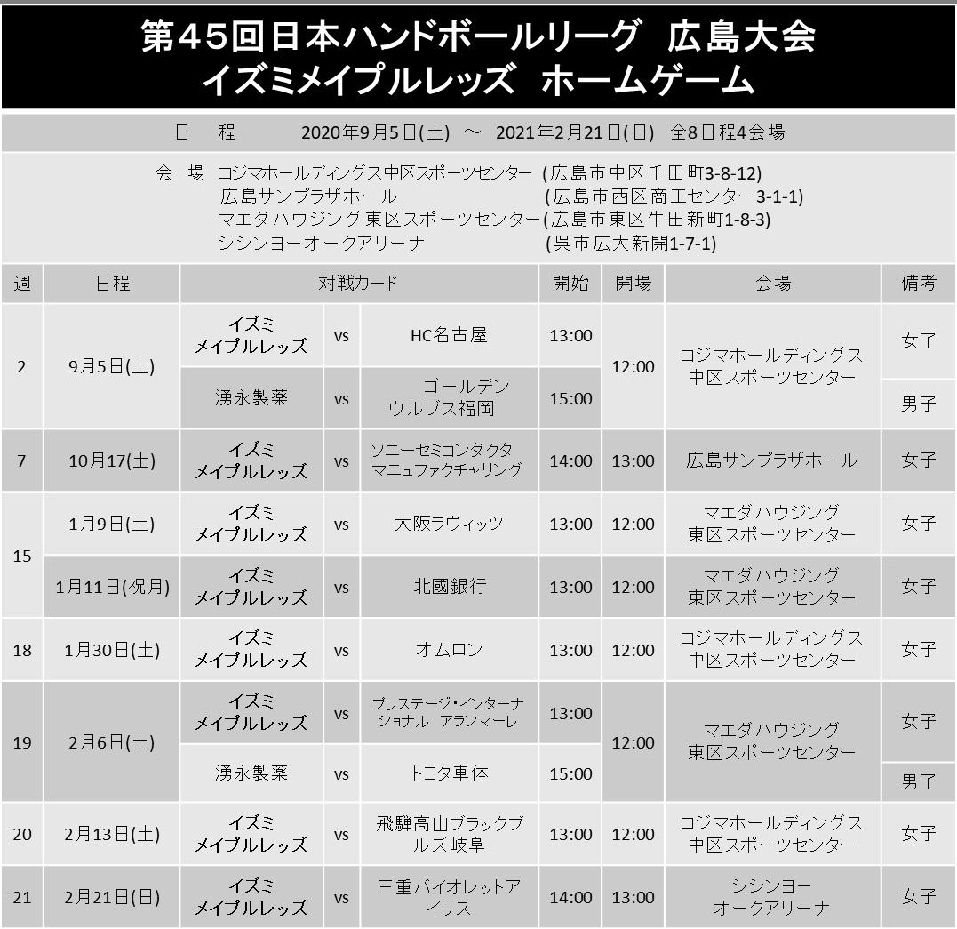 第45回日本ハンドボールリーグ ホームゲームチケット情報 イメージ